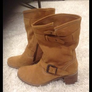 Matisse Chestnut Suede Leather Mid-calf Boots